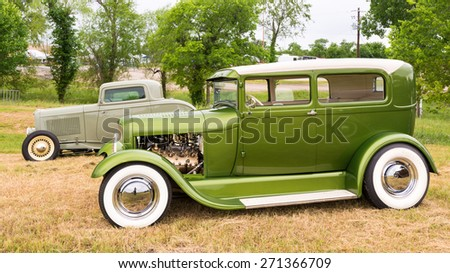 AUSTIN, TX/USA - April 17, 2015: A 1929 Ford at the Lonestar Round Up, a celebration of 1963-and-earlier American hot rods and custom cars.