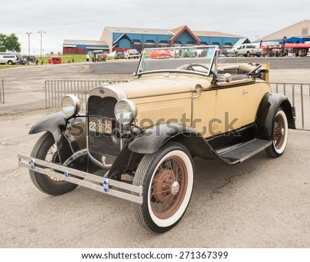 AUSTIN, TX/USA - April 17, 2015: A 1930 Ford Model A car at the Lonestar Round Up, a celebration of 1963-and-earlier American hot rods and custom cars. - stock photo