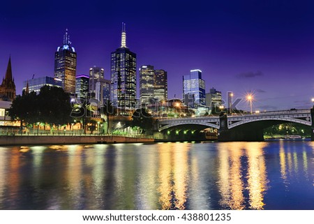 Australia Blue Hour River