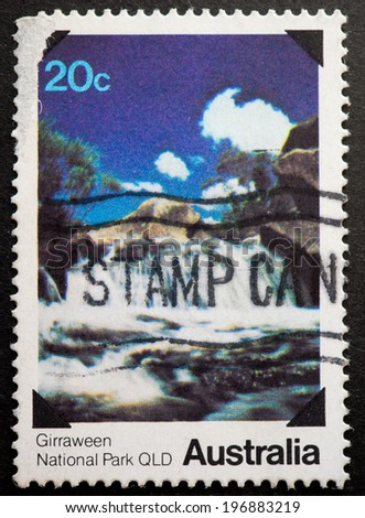 AUSTRALIA - CIRCA 1979:A Cancelled postage stamp from Australia illustrating National Parks, issued in 1979.
