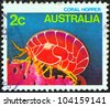 "AUSTRALIA - CIRCA 1984: A stamp printed in Australia from the ""Marine Life"" issue shows a Coral Hopper, circa 1984. - stock photo"