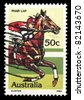AUSTRALIA - CIRCA 1978: A stamp printed in Australia shows Phar Lap (Horse Racing), circa 1978 - stock photo