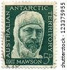 AUSTRALIA - CIRCA 1966: A stamp printed in Australia shows portrait of Sir Douglas Mawson, circa 1966 - stock photo