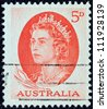 AUSTRALIA - CIRCA 1963: A stamp printed in Australia shows Queen Elizabeth II, circa 1963. - stock photo