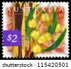 AUSTRALIA - CIRCA 1996: A Stamp printed in AUSTRALIA shows the Blackwood Wattle, Flowers series, circa 1996 - stock photo