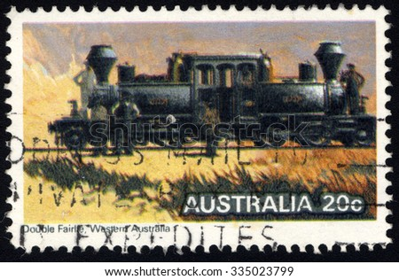 AUSTRALIA - CIRCA 1979: A stamp printed in Australia shows the Double Fairlie Locomotive, Steam Locomotives series, circa 1979