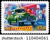 AUSTRALIA - CIRCA 1997: A Stamp printed in Australia shows the GMH Holden 48-215 (FX), 1948, Classic cars series, circa 1997 - stock photo