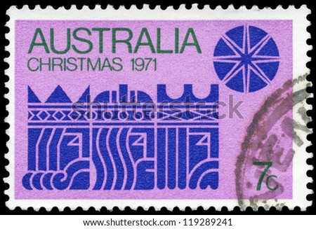 AUSTRALIA - CIRCA 1971: A stamp printed in AUSTRALIA shows the Three Kings and Star, Christmas issue, circa 1971