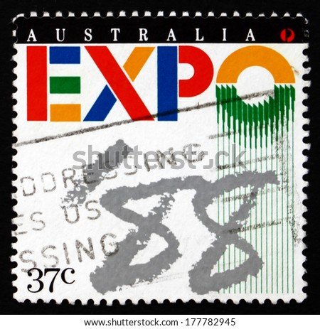 AUSTRALIA - CIRCA 1988: a stamp printed in the Australia shows EXPO '??88, Brisbane, circa 1988
