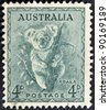 AUSTRALIA - CIRCA 1937: stamp printed by Australia, shows koala, circa 1937 - stock photo