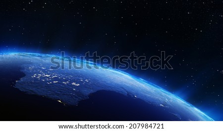 Australia city lights. Elements of this image furnished by NASA - stock photo