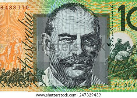 Australia Dollar, Bank note of Australia - stock photo