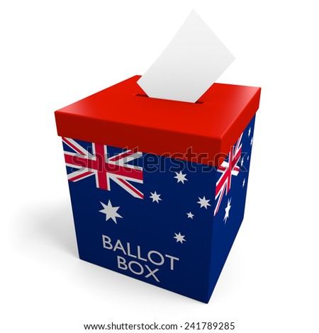 Australia election ballot box for collecting votes - stock photo