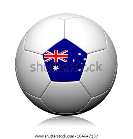 Australia Flag Pattern 3d rendering of a soccer ball - stock photo