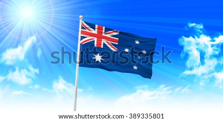 Australia?Flag sky background