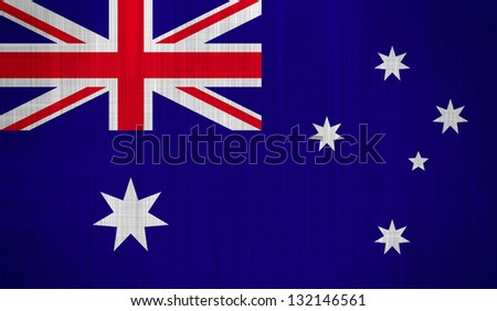 Australia Flag with a fabric texture - stock photo