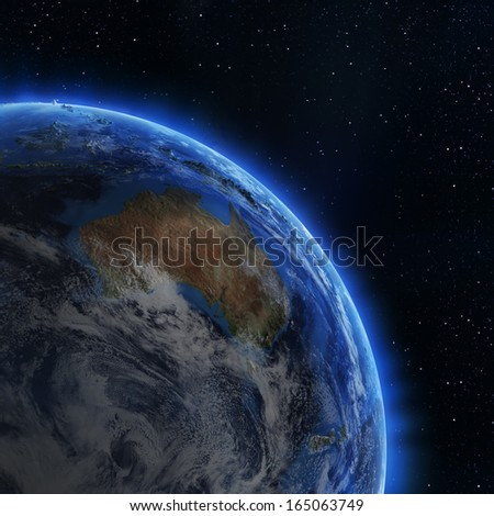 Australia from space. Elements of this image furnished by NASA