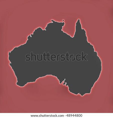Australia - glow - stock photo