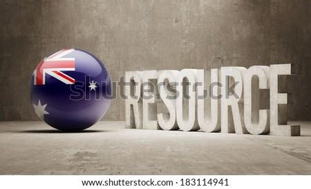 Australia High Resolution Resource Concept - stock photo