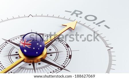 Australia High Resolution ROI Concept - stock photo