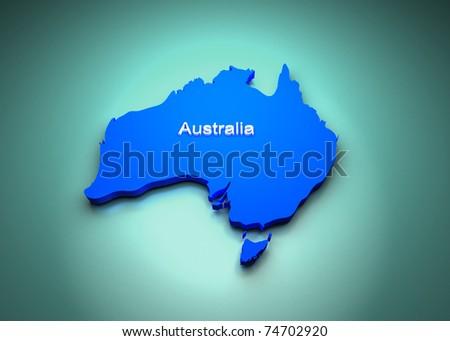 Australia Map - stock photo