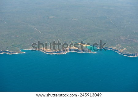 Australia's coastline - stock photo
