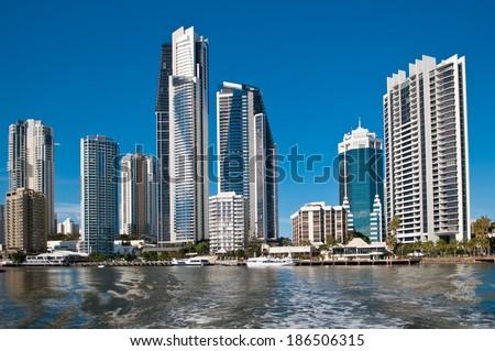 Australia, the Gold coast, Surfers Paradise - stock photo
