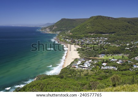 Australia Wollongong beach - stock photo
