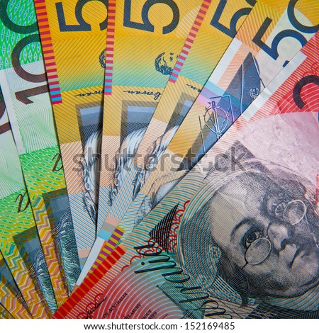 Australian Bank notes - stock photo