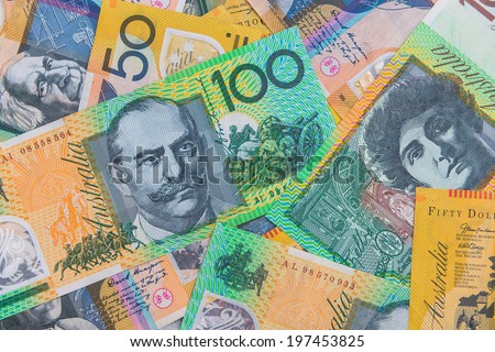 Australian Bank notes - stock photo
