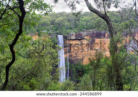 Australian bushland views of Fitzory Falls, in the Southern Highlands of NSW, Australia - stock photo