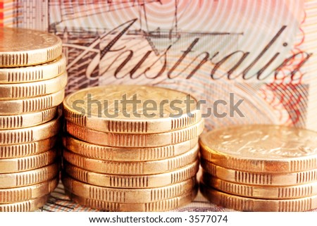 Old Australian Coins Australian Coins Stacks of