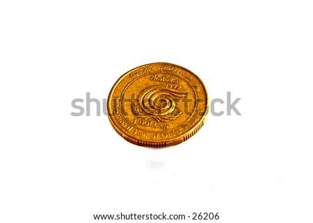 Australian currency, $1.00 - stock photo