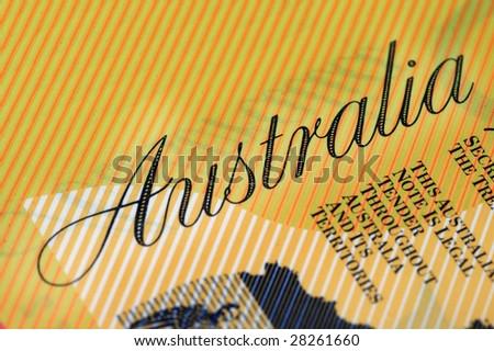 Australian Currency closeup. - stock photo
