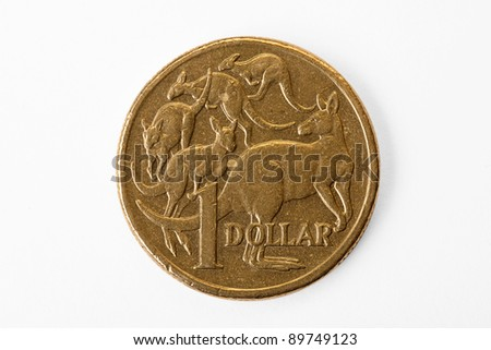 Australian Dollar close up with Clipping path - stock photo