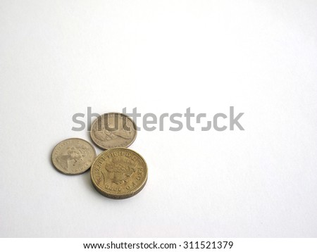 Australian dollar coin isolated on white background - stock photo