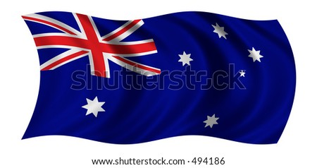 Australian Flag - CLIPPING PATH INCLUDED