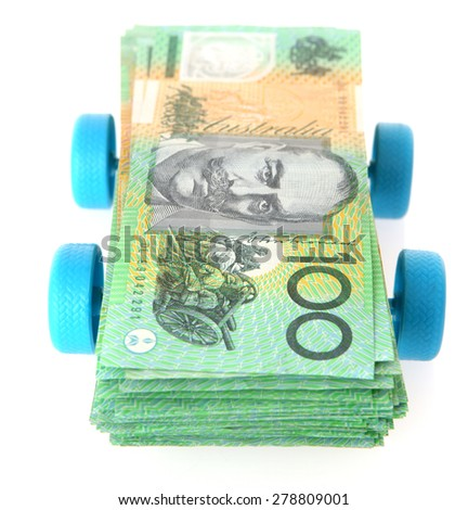 Australian Money - Aussie currency on wheels