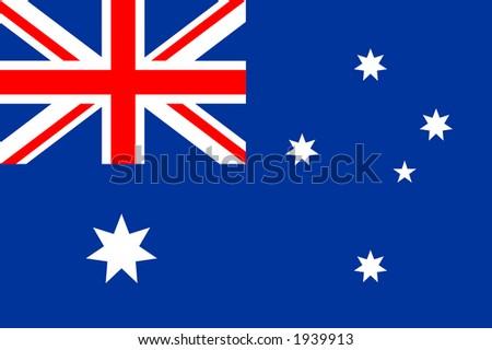 Australian national flag - stock photo