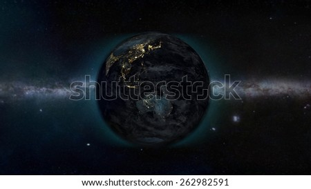 Australian Night(Elements of this image furnished by NASA) - stock photo
