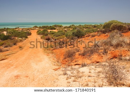 Australian outback - stock photo