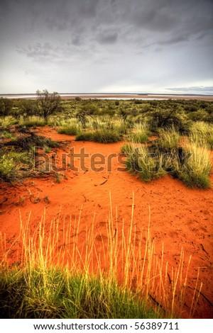 australian outback - stock photo