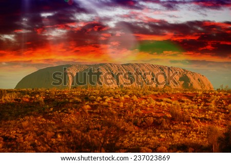 Australian Outback colors in august. - stock photo