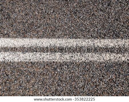 Australian outback road markings. - stock photo