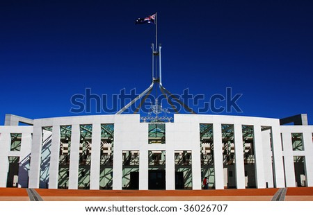Australian Parliament in Canberra - stock photo