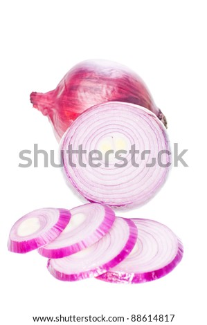 Australian red onions sliced into rings