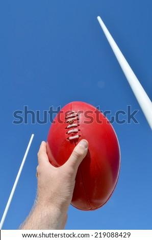 Australian Rules Football - stock photo