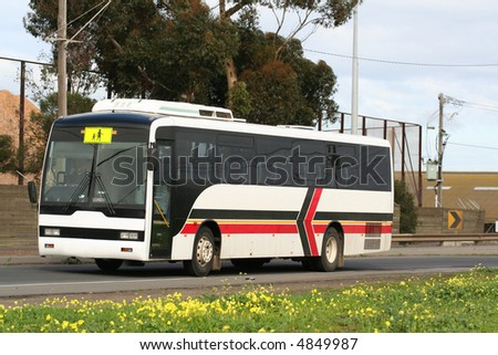 Australian school bus - stock photo