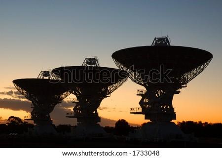 Australian Telescope Compact Array, Narrabri, NSW, Australia - stock photo