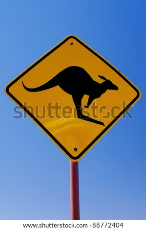 Australian Traffic Sign - stock photo